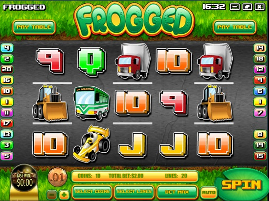 frogged slot screen big
